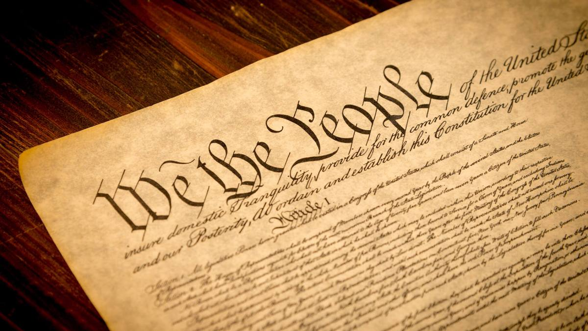 The Constitution isKing
